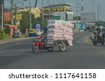 Small photo of Editorial use only; motorcycle overload, taken at Pattaya, Thailand, in January 2018.