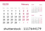 february page. 12 months... | Shutterstock .eps vector #1117644179