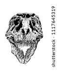 graphical skull of... | Shutterstock .eps vector #1117645319