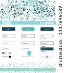 light blue vector web ui kit... | Shutterstock .eps vector #1117646189
