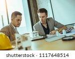 business partners showing team...   Shutterstock . vector #1117648514