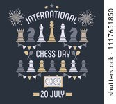 international chess day is... | Shutterstock .eps vector #1117651850