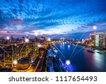 smart city icon in shanghai... | Shutterstock . vector #1117654493