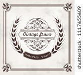 vintage frame with beautiful...   Shutterstock .eps vector #1117655609