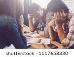 businessman feeling worried and ... | Shutterstock . vector #1117658330