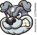 angry cartoon bulldog head.... | Shutterstock .eps vector #1117664666