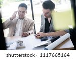 business partners showing team...   Shutterstock . vector #1117665164