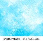 blue color watercolor smoke... | Shutterstock .eps vector #1117668638