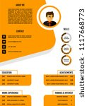 a4 curriculum vitae   resume... | Shutterstock .eps vector #1117668773