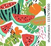 minimal summer trendy vector... | Shutterstock .eps vector #1117673030