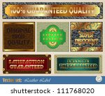 gold framed labels on different ... | Shutterstock .eps vector #111768020