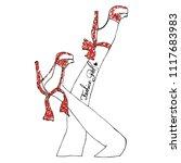 stylish trendy slogan tee t... | Shutterstock .eps vector #1117683983