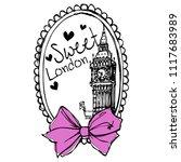 stylish trendy slogan tee t... | Shutterstock .eps vector #1117683989