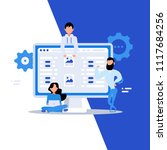 business characters. teamwork ... | Shutterstock .eps vector #1117684256