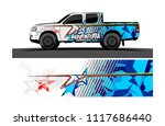 pick up truck and car decal...   Shutterstock .eps vector #1117686440