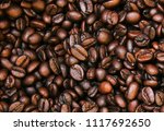 coffee beans textures background | Shutterstock . vector #1117692650