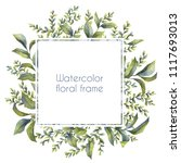 floral wreath. botanical... | Shutterstock . vector #1117693013