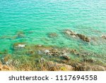 coast with sea green surrounded. | Shutterstock . vector #1117694558