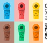 collection of colorful... | Shutterstock .eps vector #1117696196