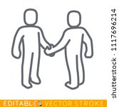 two person handshaking icon....   Shutterstock .eps vector #1117696214