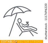 rest on the beach under...   Shutterstock .eps vector #1117696220