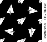 paper airplane seamless pattern | Shutterstock .eps vector #1117703150