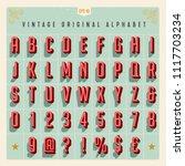 vector vintage style alphabet... | Shutterstock .eps vector #1117703234