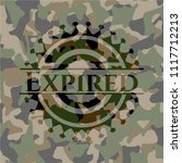 expired on camo texture | Shutterstock .eps vector #1117712213