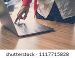 young start up woman wearing...   Shutterstock . vector #1117715828