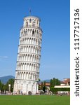 leaning tower of pisa  italy | Shutterstock . vector #1117717136