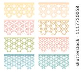 set of colorful seamless...   Shutterstock .eps vector #1117720058