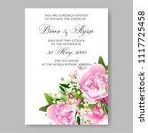 wedding invitation vector...   Shutterstock .eps vector #1117725458
