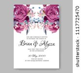 wedding invitation vector...   Shutterstock .eps vector #1117725470