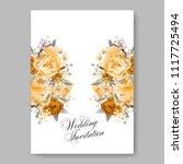 wedding invitation vector...   Shutterstock .eps vector #1117725494