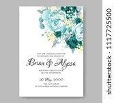 wedding invitation vector...   Shutterstock .eps vector #1117725500