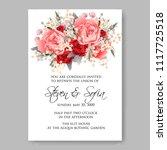 wedding invitation vector...   Shutterstock .eps vector #1117725518
