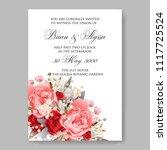 wedding invitation vector...   Shutterstock .eps vector #1117725524