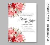 wedding invitation vector...   Shutterstock .eps vector #1117725530