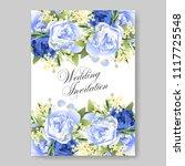 wedding invitation vector...   Shutterstock .eps vector #1117725548