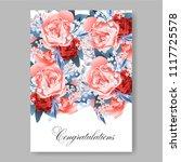 wedding invitation vector...   Shutterstock .eps vector #1117725578