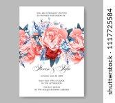 wedding invitation vector...   Shutterstock .eps vector #1117725584