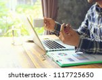 business man of freelancer...   Shutterstock . vector #1117725650
