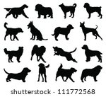set of dogs silhouette 2 vector | Shutterstock .eps vector #111772568