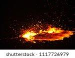 lava lake of erta ale volcano | Shutterstock . vector #1117726979