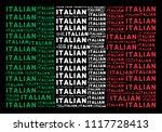 italian official flag flat... | Shutterstock .eps vector #1117728413