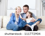 happy family has a day off   Shutterstock . vector #111772904