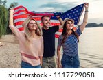 shot of young friends carrying...   Shutterstock . vector #1117729058