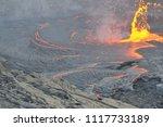 lava lake of erta ale volcano | Shutterstock . vector #1117733189