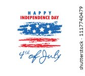 4th of july  united stated... | Shutterstock .eps vector #1117740479