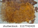 old rusted iron background. | Shutterstock . vector #1117742420